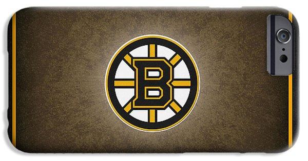 Boston iPhone Cases - Boston Bruins iPhone Case by Joe Hamilton