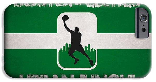 Celtic iPhone Cases - Boston Celtics iPhone Case by Joe Hamilton
