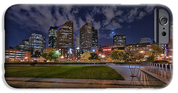 Boston Nightscape iPhone Cases - Boston Nights 3 iPhone Case by Joann Vitali