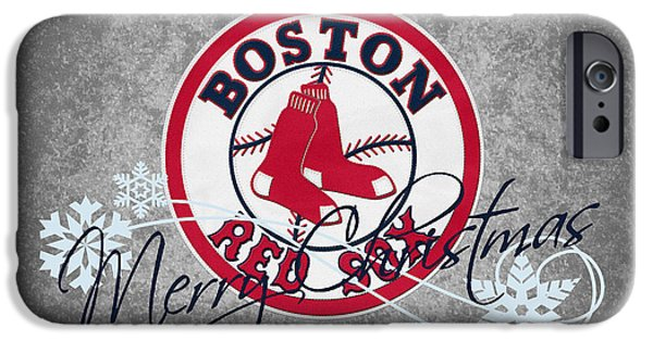Red Sox Red Sox iPhone Cases - Boston Red Sox iPhone Case by Joe Hamilton