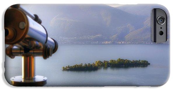 Ascona iPhone Cases - Brissago Islands iPhone Case by Joana Kruse