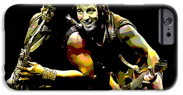 Bruce Springsteen Prints iPhone Cases - Bruce Springsteen Clarence Clemons iPhone Case by Marvin Blaine