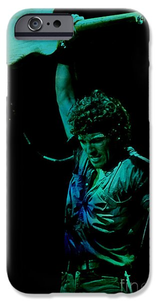 Bruce Springsteen iPhone Cases - Bruce Springsteen iPhone Case by Marvin Blaine