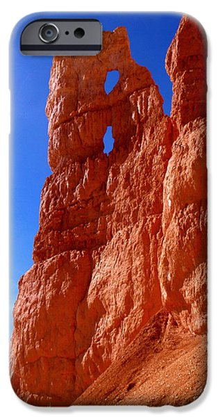 Orange iPhone Cases - Bryce Canyon National Park iPhone Case by Rona Black