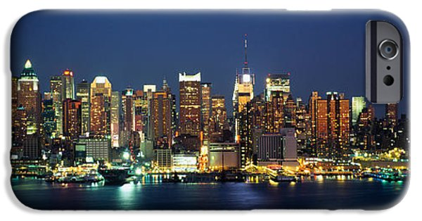 Hudson River iPhone Cases - Buildings At The Waterfront, Manhattan iPhone Case by Panoramic Images