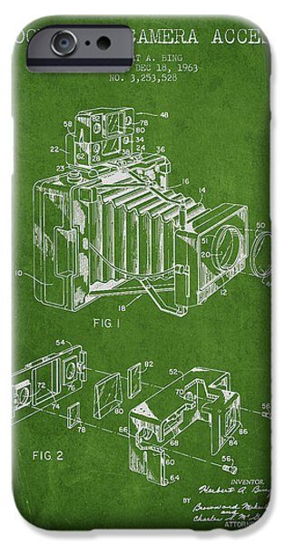 Camera iPhone Cases - Camera Patent Drawing From 1963 iPhone Case by Aged Pixel