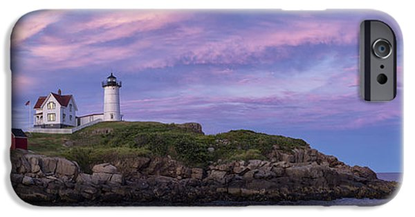 Nubble Lighthouse iPhone Cases - Cape Neddick Lighthouse iPhone Case by David DesRochers