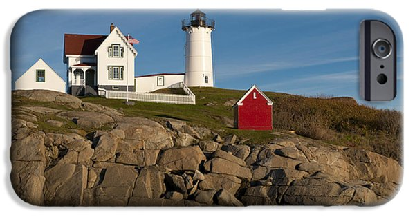 Nubble Lighthouse iPhone Cases - Cape Neddick Lighthouse iPhone Case by John Shaw