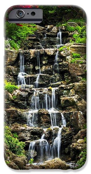 Cascading waterfall iPhone Case by Elena Elisseeva
