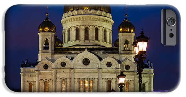 Russian Cross iPhone Cases - Cathedral of Christ the Savior Of Moscow - Russia - Featured 3 iPhone Case by Alexander Senin