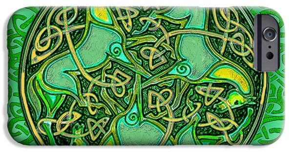 Celtic Knotwork iPhone Cases - 3 Celtic Irish Horses iPhone Case by Michele  Avanti