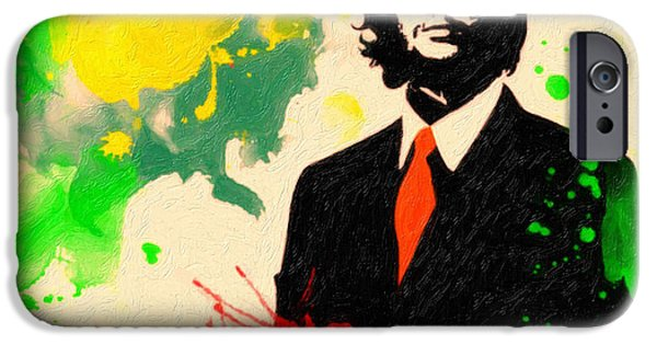Civil Liberties Paintings iPhone Cases - Che Guevara iPhone Case by Celestial Images