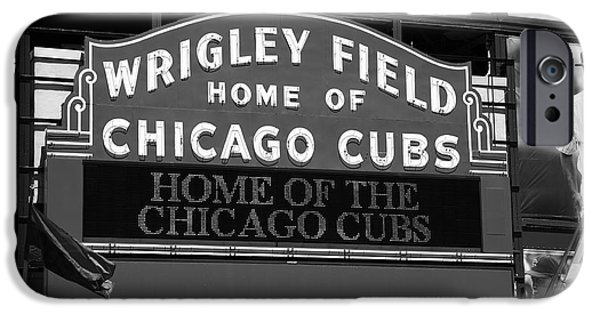 Chicago Cubs iPhone Cases - Chicago Cubs - Wrigley Field 16 iPhone Case by Frank Romeo