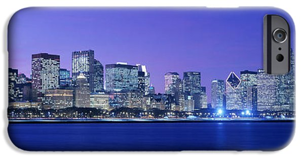 Lake Front iPhone Cases - Chicago, Illinois, Usa iPhone Case by Panoramic Images
