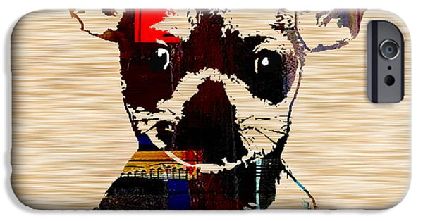Dogs iPhone Cases - Chihuahua iPhone Case by Marvin Blaine