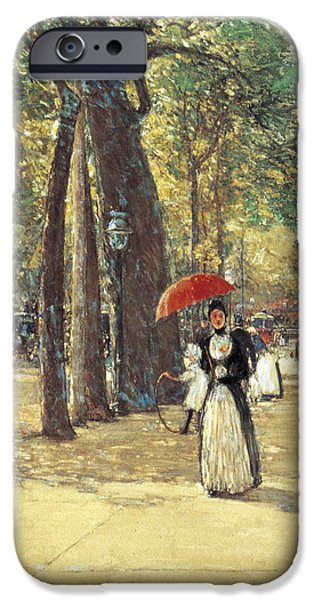 Childe iPhone Cases - Fifth Avenue at Washington Square iPhone Case by Childe Hassam