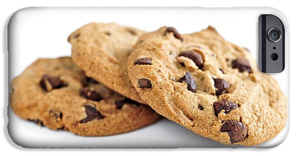 Best Sellers -  - Chip iPhone Cases - Chocolate chip cookies iPhone Case by Elena Elisseeva