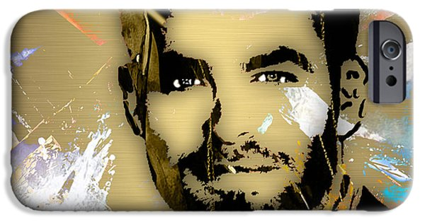 Enterprise Mixed Media iPhone Cases - Chris Pine Collection iPhone Case by Marvin Blaine
