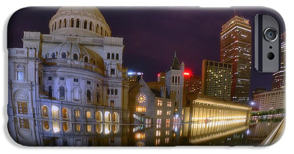Scenic Boston iPhone Cases - Christian Science Center-Boston iPhone Case by Joann Vitali