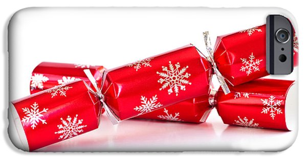 Bang iPhone Cases - Christmas crackers iPhone Case by Elena Elisseeva