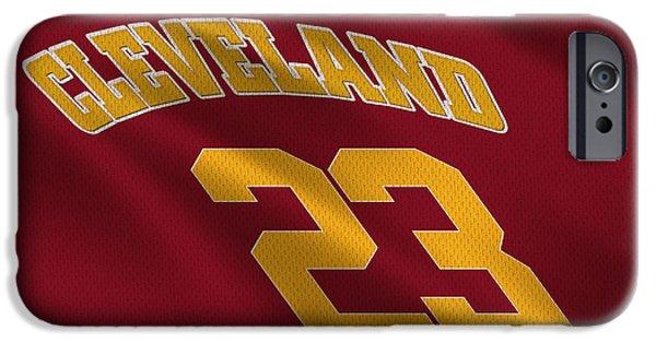 Cavalier iPhone Cases - Cleveland Cavaliers Uniform iPhone Case by Joe Hamilton