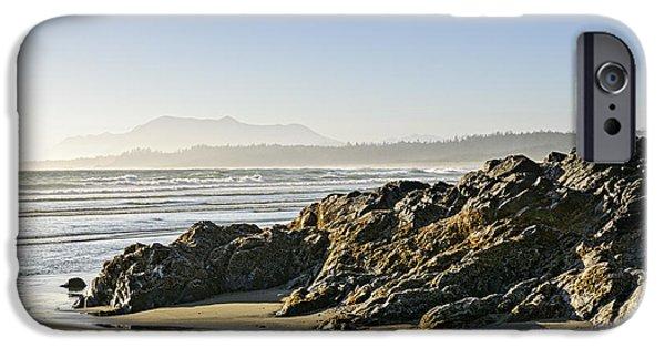 Mist iPhone Cases - Coast of Pacific ocean on Vancouver Island iPhone Case by Elena Elisseeva