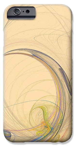 Action Lines Digital iPhone Cases - Colorful abstract background iPhone Case by Odon Czintos