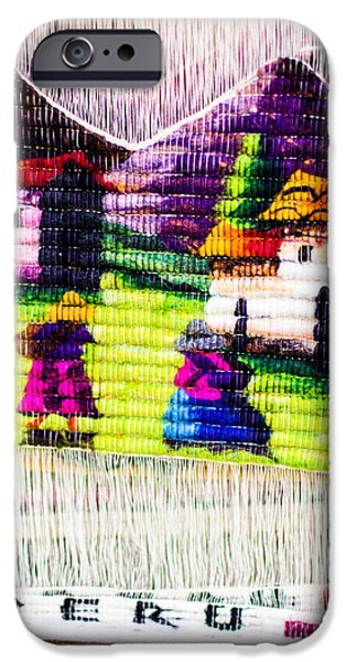 Design iPhone Cases - Colorful Fabric at market in Peru iPhone Case by Mariusz Prusaczyk