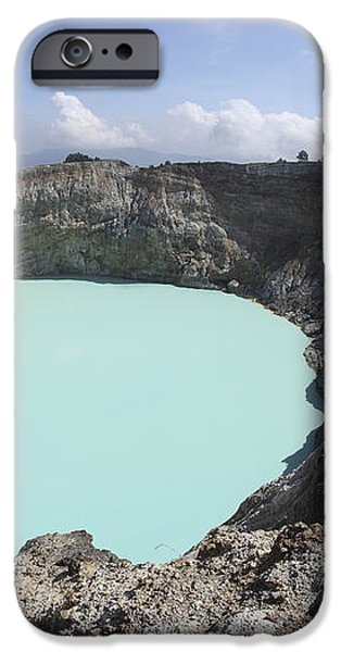 Colourful Crater Lakes Of Kelimutu iPhone Case by Richard Roscoe