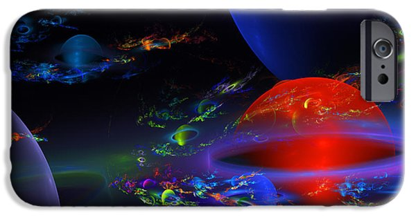 Abstractions iPhone Cases - Computer Generated  Sphere Abstract Fractal Flame Modern Art iPhone Case by Keith Webber Jr