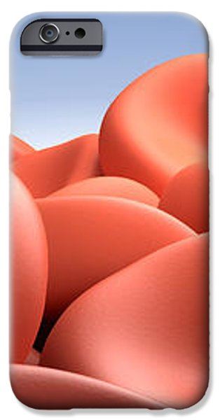 Conceptual Image Of Red Blood Cells iPhone Case by Stocktrek Images