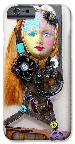 Fun Sculptures iPhone Cases - Cool And Level Headed iPhone Case by Keri Joy Colestock