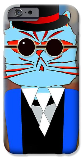 Cats iPhone Cases - Cool Cat iPhone Case by Marvin Blaine