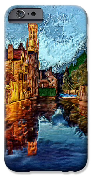 Prismatic Paintings iPhone Cases - 3-D River Road iPhone Case by Bruce Nutting