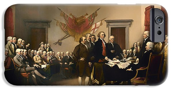 Recently Sold -  - American Revolution iPhone Cases - Declaration of Independence iPhone Case by John Trumbull