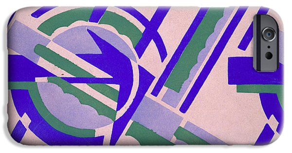 Abstract Shapes Drawings iPhone Cases - Design from Nouvelles Compositions Decoratives iPhone Case by Serge Gladky