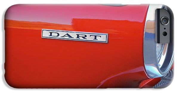 Dodge iPhone Cases - Dodge Dart Emblem iPhone Case by Jill Reger