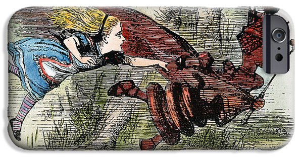 Alice In Wonderland iPhone Cases - Dodgson: Looking Glass iPhone Case by Granger