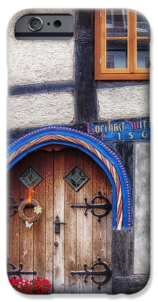 Entrance Door Photographs iPhone Cases - Doors of Germany iPhone Case by Mountain Dreams