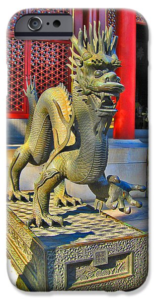 Allegoric iPhone Cases - Dragon. Made In China. Beijing. Secret City. iPhone Case by Andy Za