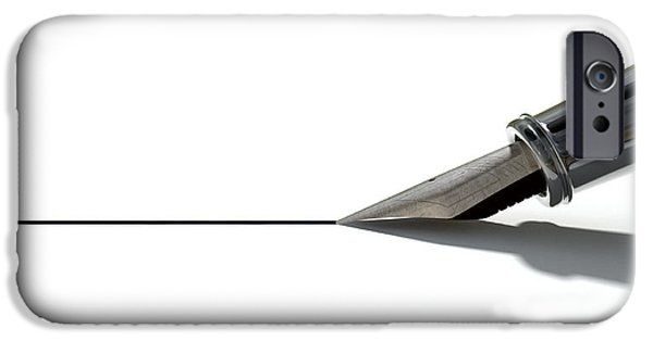 Pen Digital Art iPhone Cases - Drawing The Line iPhone Case by Allan Swart