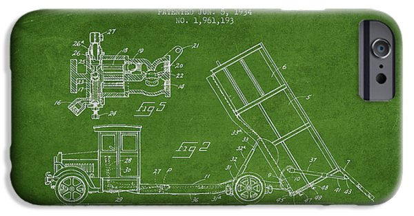 Dump iPhone Cases - Dump Truck patent drawing from 1934 iPhone Case by Aged Pixel