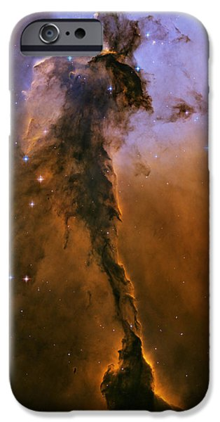 Stellar Paintings iPhone Cases - Eagle Nebula iPhone Case by Nasa