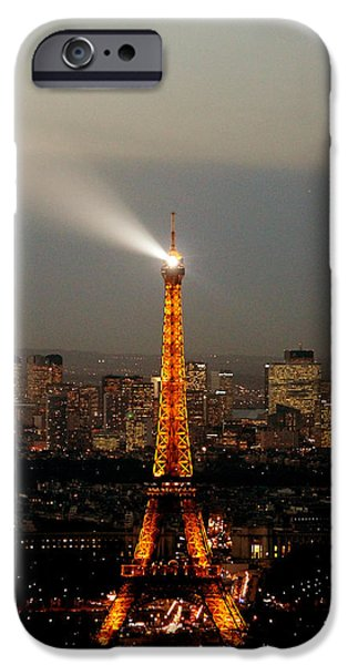 Lighthouse iPhone Cases - Eiffel Tower Paris iPhone Case by Cedric Darrigrand