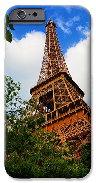 Cultural Icon iPhone Cases - Eiffel Tower Paris France iPhone Case by Patricia Awapara
