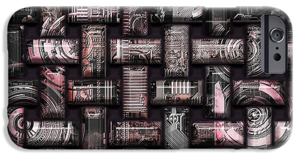 Component Mixed Media iPhone Cases - Elaborate Compounds iPhone Case by Diuno Ashlee