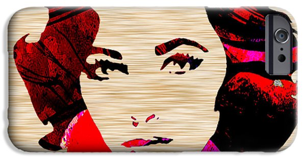 Stars iPhone Cases - ElizabethTaylor iPhone Case by Marvin Blaine
