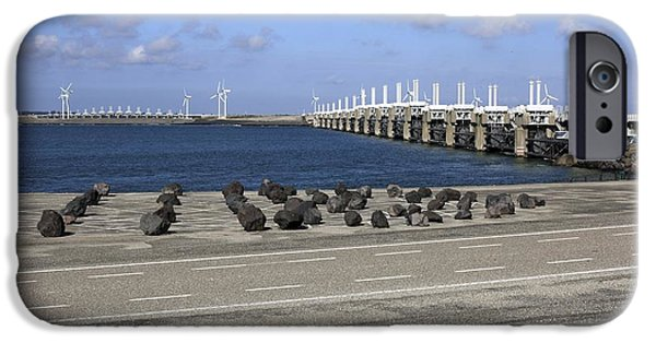 North Sea iPhone Cases - Flood Barrier, Netherlands iPhone Case by Dirk Wiersma