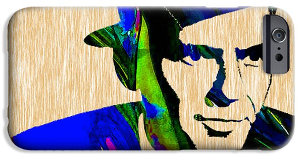 Colorful Mixed Media iPhone Cases - Frank Sinatra Painting iPhone Case by Marvin Blaine
