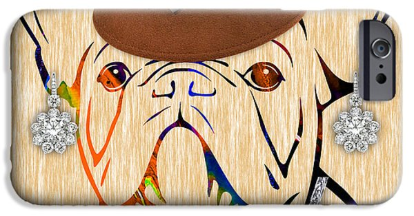 Portrait iPhone Cases - French Bulldog Collection iPhone Case by Marvin Blaine